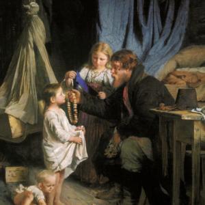 Отец возвращается, 1870 Корзухин